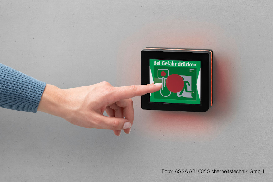 ASSA ABLOY ePED-Wanddisplay